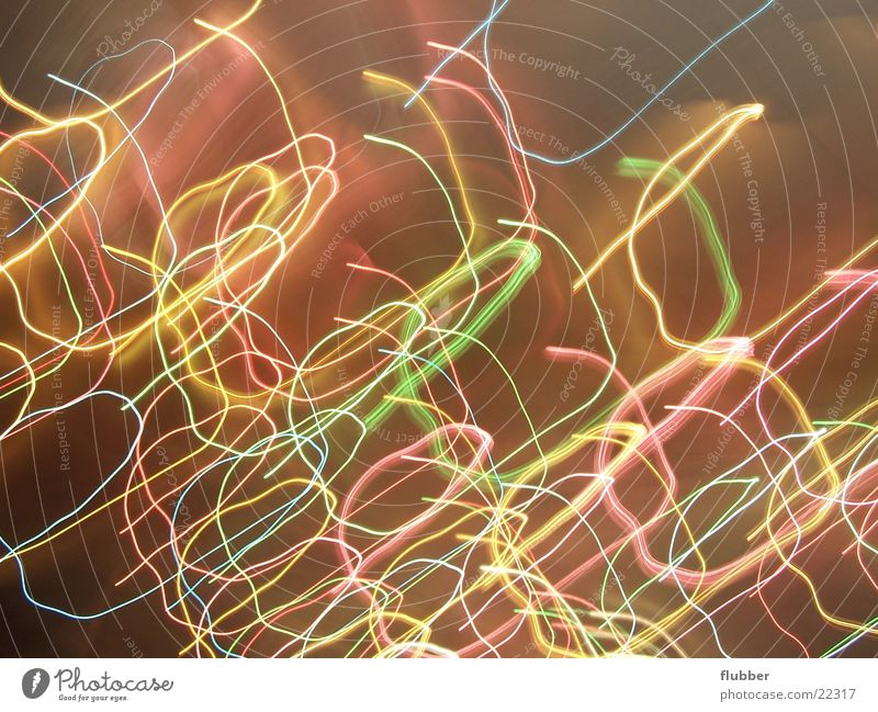 Chaos of Lights II Long exposure Lamp Night Multicoloured Movement