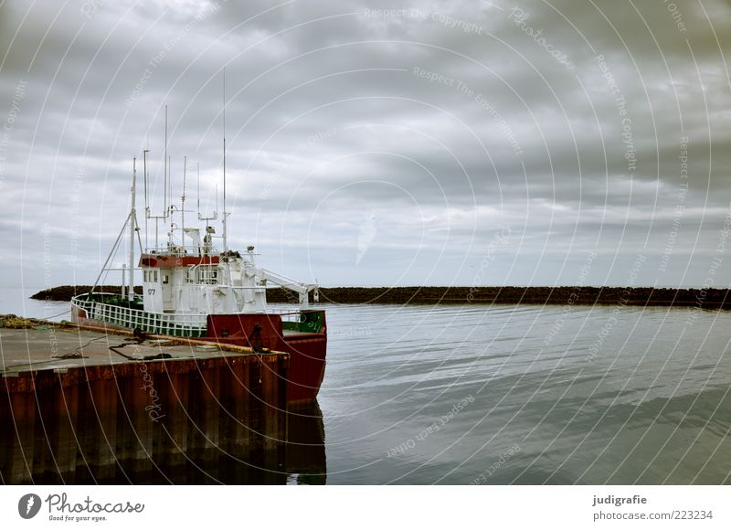 Sky Nature Clouds Calm Dark Environment Coast Moody Weather Climate Harbour Iceland Navigation Economy Jetty Fjord