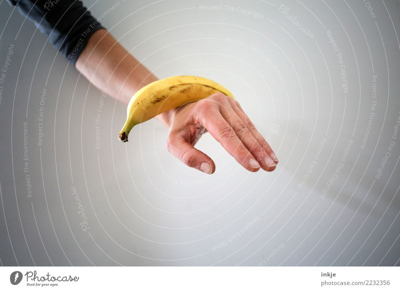balanced diet 3 Fruit Banana Nutrition Arm Hand 1 Human being To hold on Lie Exceptional Fresh Healthy Yellow Contentment Mature Balanced Colour photo