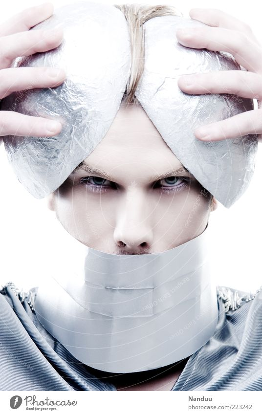 Human being Cold Head Metal Blonde Masculine Exceptional Jewellery Direct Dress up Futurism Extraterrestrial being Accessory Artificial Demanding