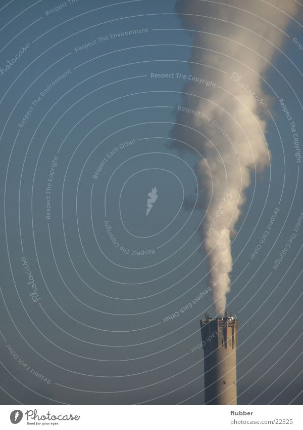 Sky Air Climate Industry Industrial Photography Many Factory Exhaust gas Chimney Climate change Environmental pollution Go up Smoke cloud