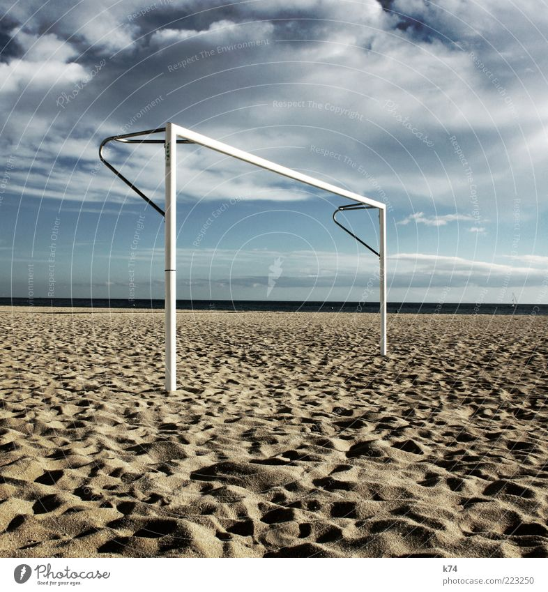 Sky Water Beach Ocean Clouds Calm Relaxation Sand Air Coast Soccer Horizon Empty Stand Exceptional Goal