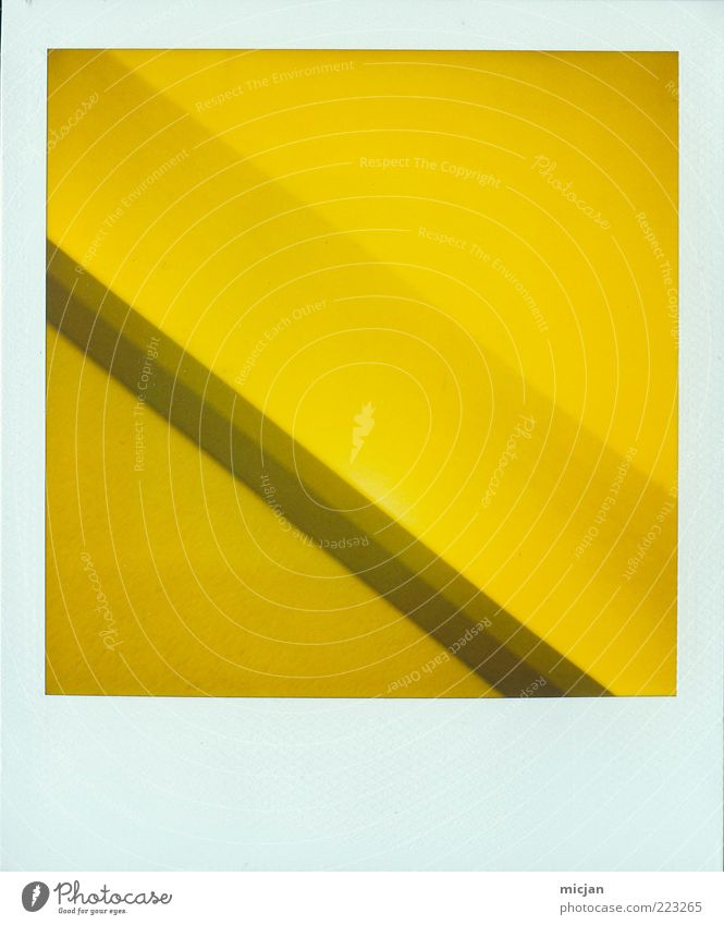 Yellow Wall (building) Style Line Photography Background picture Design Modern Corner Simple Plastic Analog Square Diagonal Geometry Downward