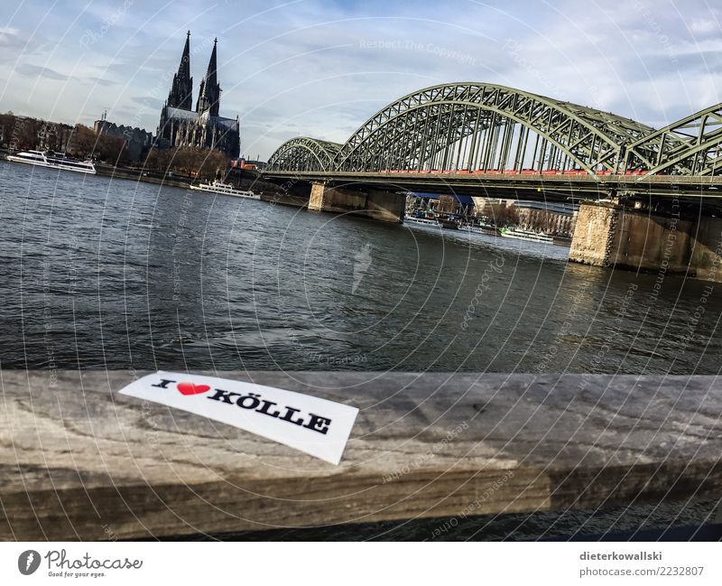 Cologne Town Downtown Old town Skyline House (Residential Structure) Church Dome Bridge Tourist Attraction Landmark Monument Inland navigation