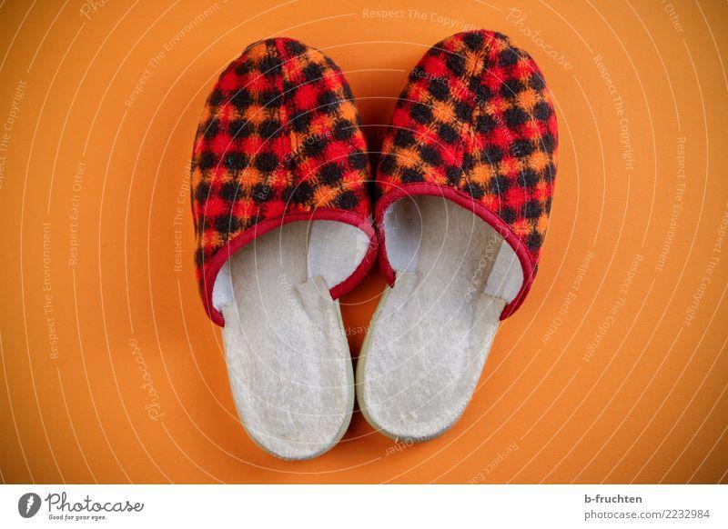 Old Red Orange Living or residing Retro In pairs Footwear Slippers Meticulous