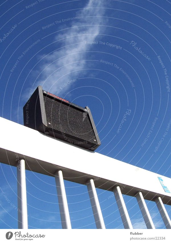 sound in the air Loudspeaker Intensifier Entertainment boxes Sky Blue Handrail Tone Sound Music