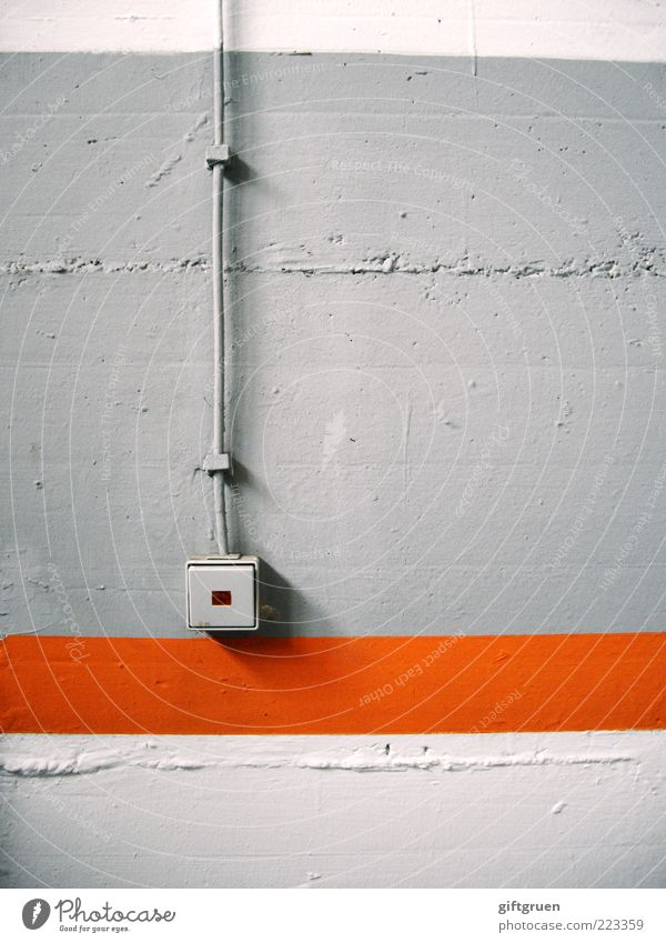 White Wall (building) Gray Dye Orange Concrete Energy industry Electricity Technology Cable Stripe Vertical Switch Light Old fashioned
