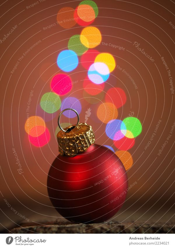 Christmas tree ball Feasts & Celebrations Christmas & Advent Anticipation Together Belief Calm Tradition elegance festive focus holiday red reflection romantic