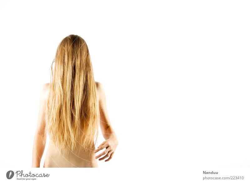 Human being Youth (Young adults) Feminine Naked Hair and hairstyles Body Blonde Hair Thin Creepy Whimsical Long-haired Monster Young woman Concealed