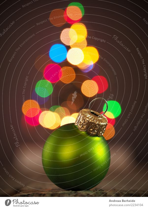 Christmas & Advent Background picture Feasts & Celebrations Decoration Symbols and metaphors Tradition Christmas tree Glitter Ball Festive Fairy lights