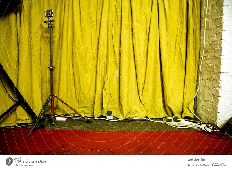 Red Yellow Music Wall (barrier) Metal Leisure and hobbies Culture Cable Stage Drape Microphone Carpet Insulation Folds Tripod