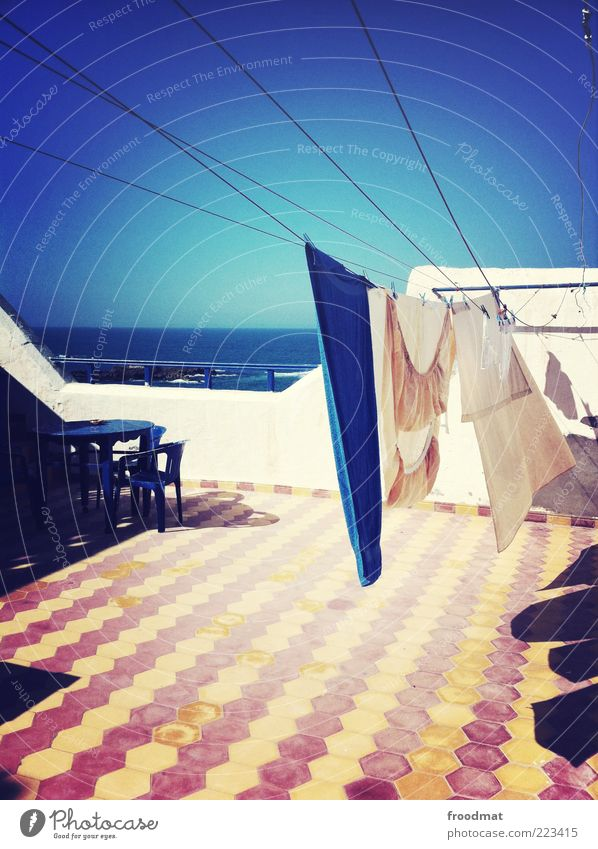 Summer Ocean Far-off places Rope Table Chair Idyll Protection Dry Tile Beautiful weather Laundry Towel Asia Africa