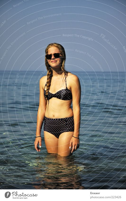Human being Sky Nature Youth (Young adults) Water Beautiful Sun Summer Beach Ocean Vacation & Travel Feminine Hair and hairstyles Air Body
