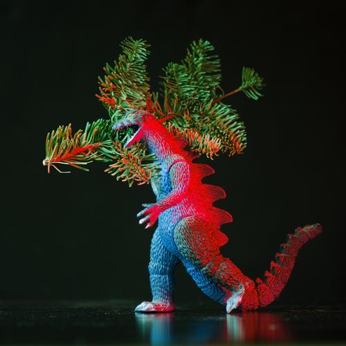 atännschen please! Hunting Christmas & Advent Carrying Christmas tree Twig gozilla Ogre Testing & Control Threat Monster Fir branch Fir tree