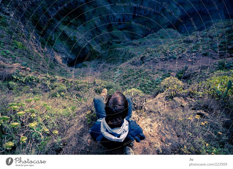 advance Trip Expedition Mountain Hiking Environment Nature Landscape Earth Canyon Barranco Valley Threat Tall Life Unwavering Fear of the future Adventure End