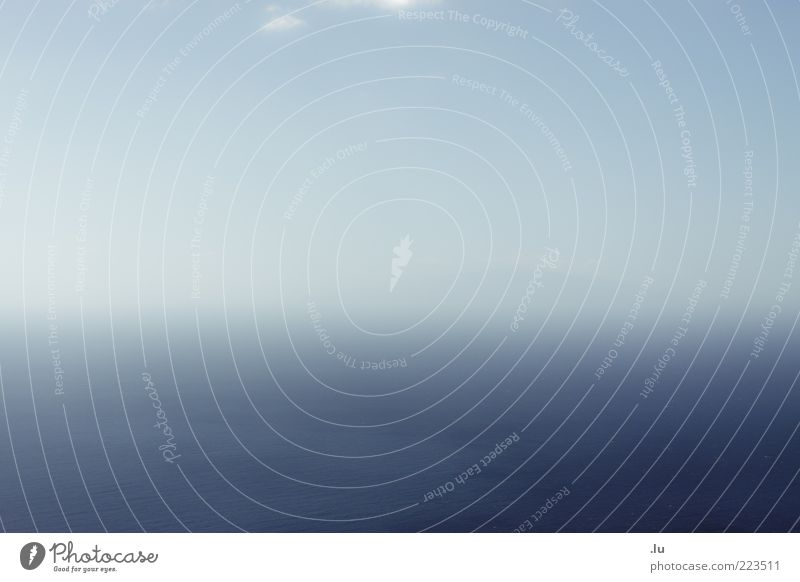 = Water Sky Horizon Serene Calm Unclear Ocean Island Fog Blue Structures and shapes Infinity Colour photo Exterior shot Deserted Copy Space left