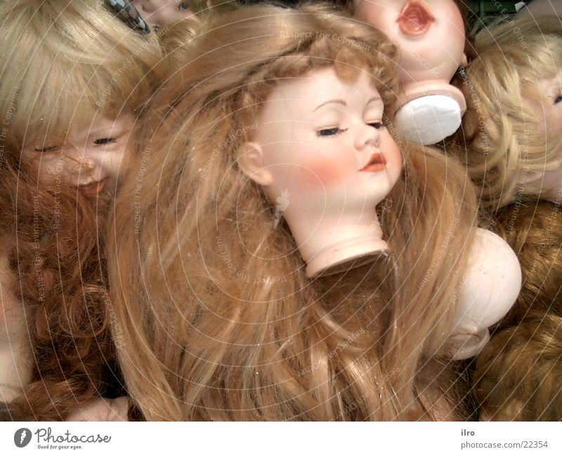 Hair and hairstyles Head Part Doll Collection Toys