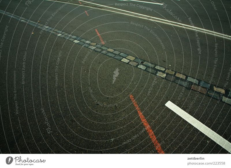 lines Capital city Traffic infrastructure Street Lanes & trails Asphalt Stripe Traces of fomer wall Signs and labeling Marker line Tracks Orientation Line