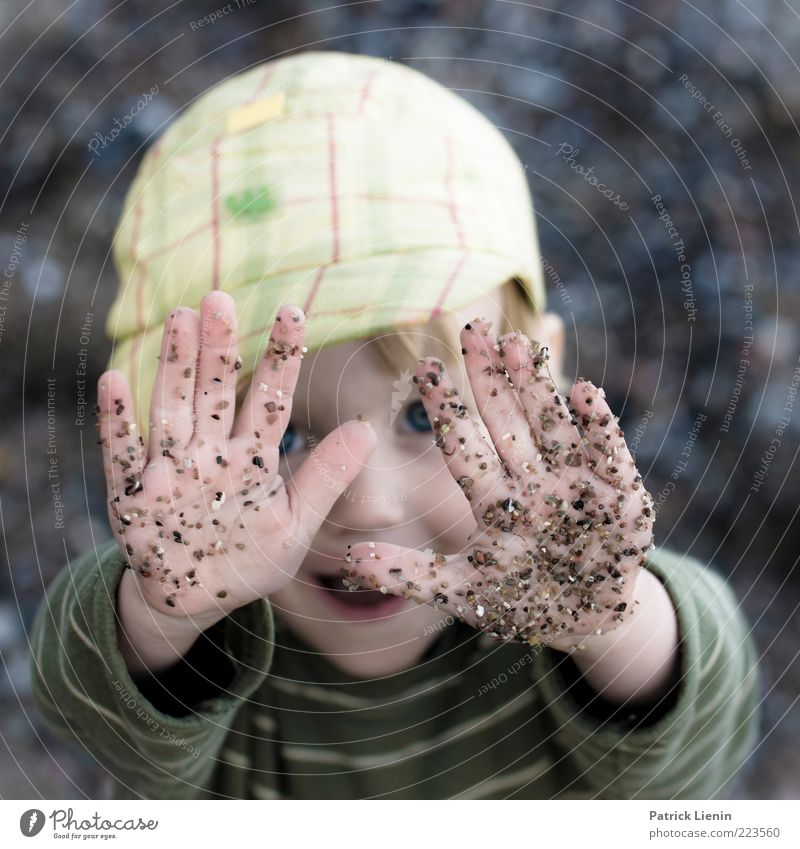 Human being Child Hand Joy Face Playing Environment Boy (child) Happy Moody Infancy Fingers Happiness Safety Help Touch