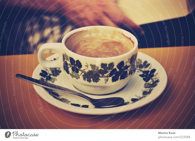 Calm Colour Relaxation Contentment Moody Brown Coffee Kitsch Leisure and hobbies Living or residing Crockery Fragrance Cup To enjoy Ornament Spoon