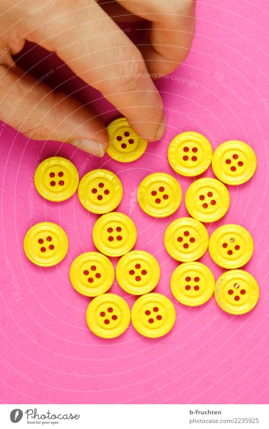 Man Adults Yellow Playing Pink Arm Fingers Sign To hold on Plastic Select Elections Buttons Selection