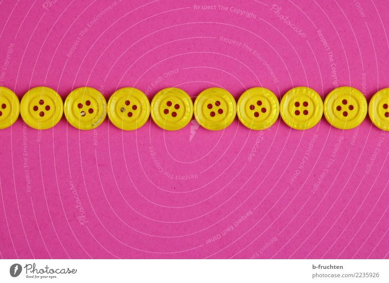 button row Plastic Sign Communicate Simple Above Yellow Violet Pink Conscientiously Self Control Row Buttons Line Meticulous unbroken Attachment Ground Direct