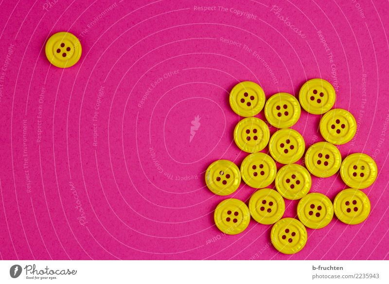 Loneliness Yellow Pink Together Uniqueness Individual Observe Sign Violet Plastic Border Select Society Remote Buttons Neighbor