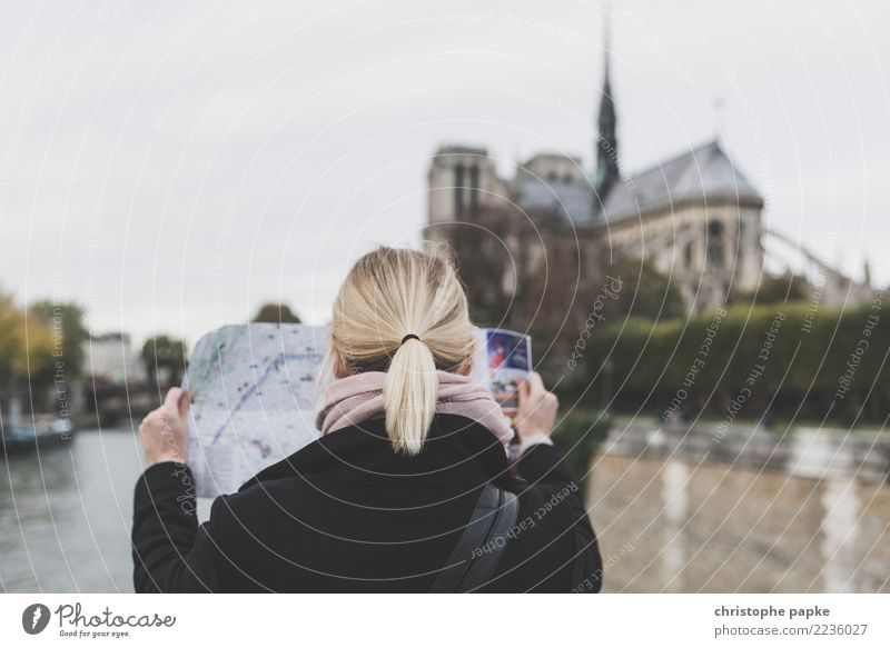 Woman Human being Vacation & Travel Town Adults Architecture Building Tourism Head Blonde Reading Discover Tourist Attraction Manmade structures France