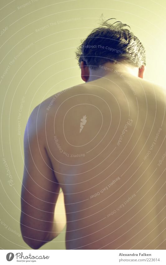 Human being Man Adults Life Naked Body Back Skin Masculine Esthetic Short-haired