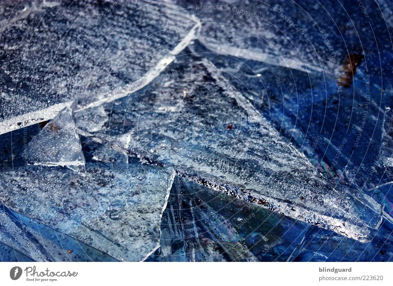Ice Age 3 Elements Water Winter Frost Freeze Cold Blue White Climate Frozen Broken Point Oxygen Colour photo Exterior shot Detail Deserted Evening Light