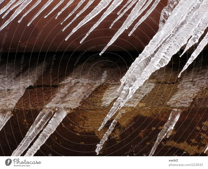 Water Winter Black Cold Wall (building) Gray Wall (barrier) Brown Ice Wet Facade Cool (slang) Frost Change Drop Simple