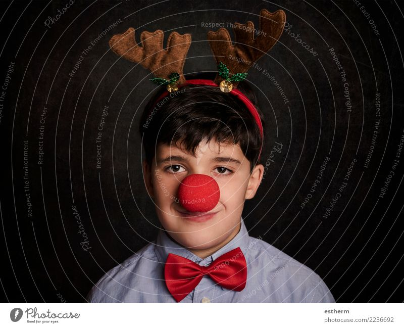 funny child at christmas Child Human being Christmas & Advent Joy Lifestyle Funny Emotions Happy Feasts & Celebrations Masculine Infancy Smiling Happiness