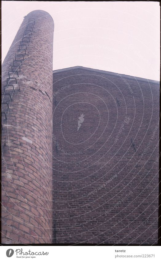 Old Wall (building) Wall (barrier) Pink Tall Round Simple Brick Past Historic Chimney Geometry Sharp-edged Industrial Dominant Aachen