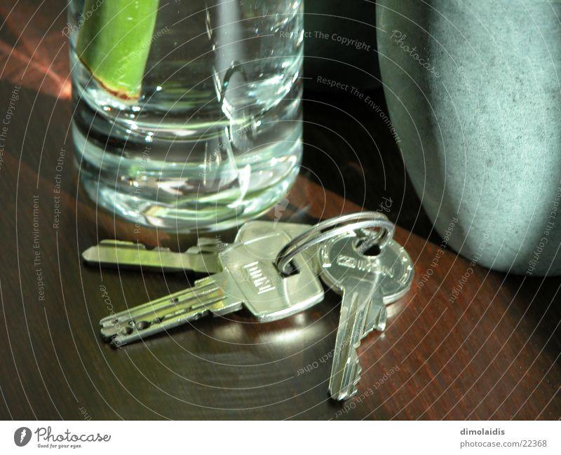 key Key Table Wood Mug Glass Bamboo stick