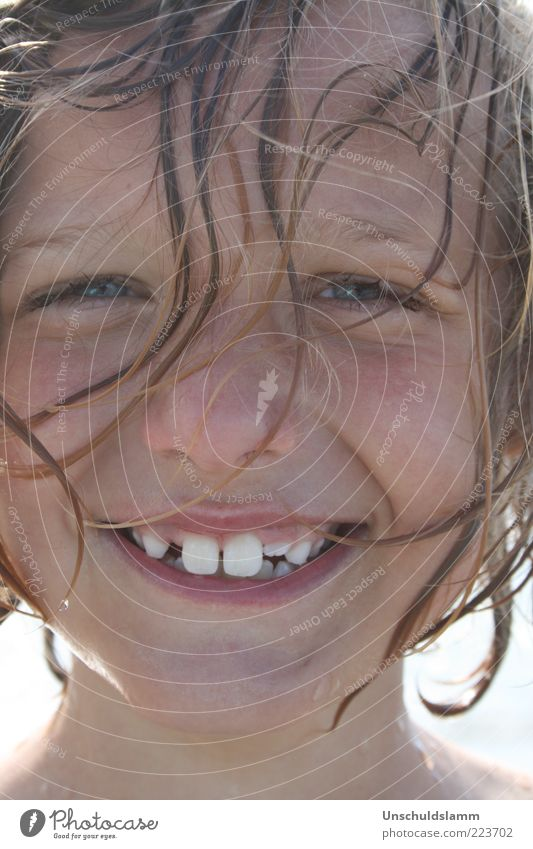 Human being Child Joy Summer Vacation & Travel Face Life Boy (child) Emotions Happy Hair and hairstyles Laughter Wet Fresh Happiness Portrait photograph