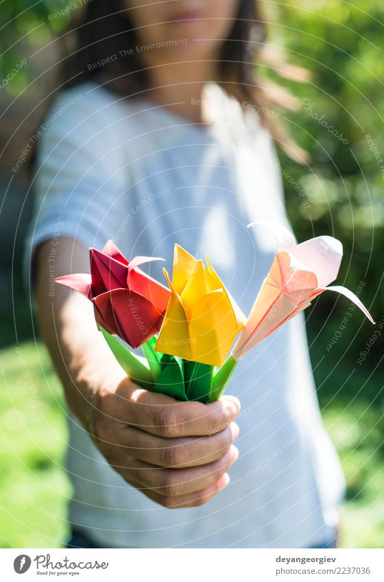 Woman hold bouquet Nature Colour White Hand Flower Red Yellow Art Pink Design Decoration Gift Paper Symbols and metaphors Bouquet Beauty Photography