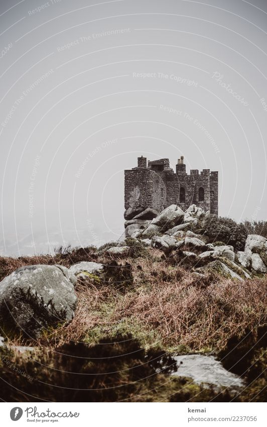 Sky Nature Old Landscape Loneliness Calm Dark Environment Wall (building) Building Wall (barrier) Exceptional Stone Gray Rock Trip