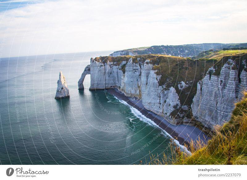 etretat North Sea Étretat France Normandie Landscape Limestone rock Ocean Autumn Nature Back-light