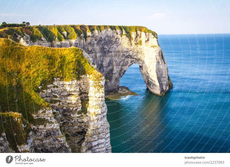 etretat AIDA Canon 60d Metropolises1 North Sea Étretat France Normandie Landscape Limestone rock Ocean Autumn Nature