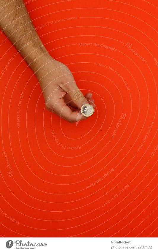 Hand Art Happy 1 Orange Esthetic Work of art Save Euro Thumb Euro symbol Coin Player Game of chance Playful Gambler