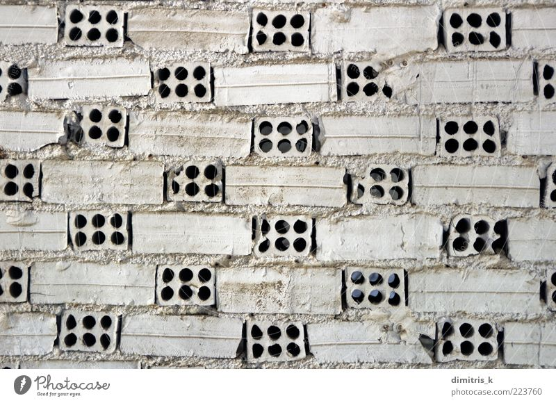 white brick wall Old White Architecture Building Background picture Dirty Brick Material Surface Earth hole Weathered Set Rough Pattern Grunge