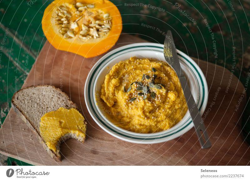orange on bread Food Vegetable Pumpkin Bread Nutrition Eating Dinner Buffet Brunch Organic produce Vegetarian diet Diet Fasting Vegan diet Fresh Healthy