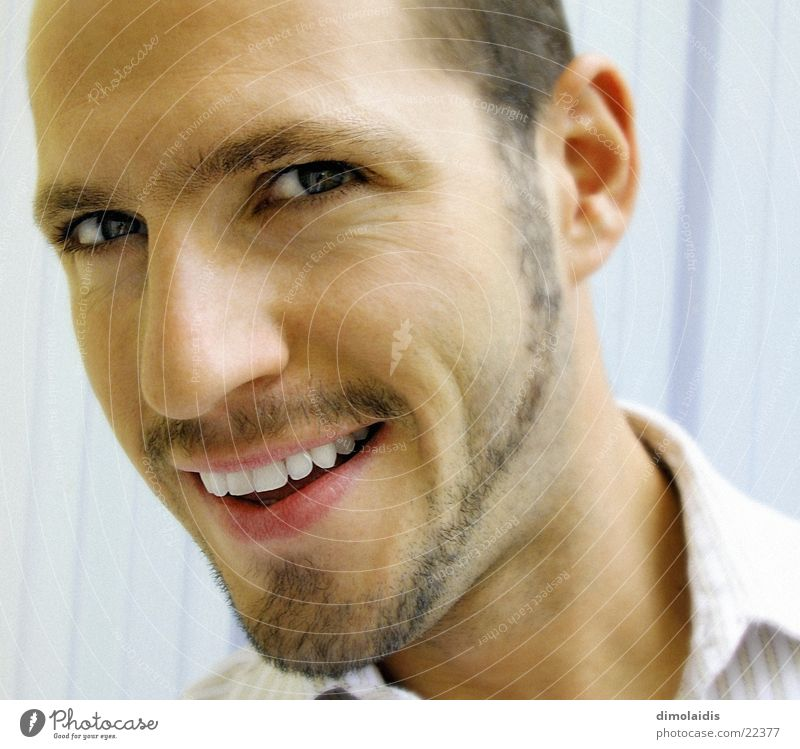 laugh Facial hair Man Human being Face Nose Laughter Eyes pit Teeth
