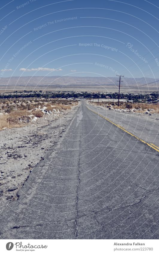 Road to Nowhere II Environment Nature Landscape Sky Beautiful weather Mountain Traffic infrastructure Road traffic Street Lanes & trails Tourism