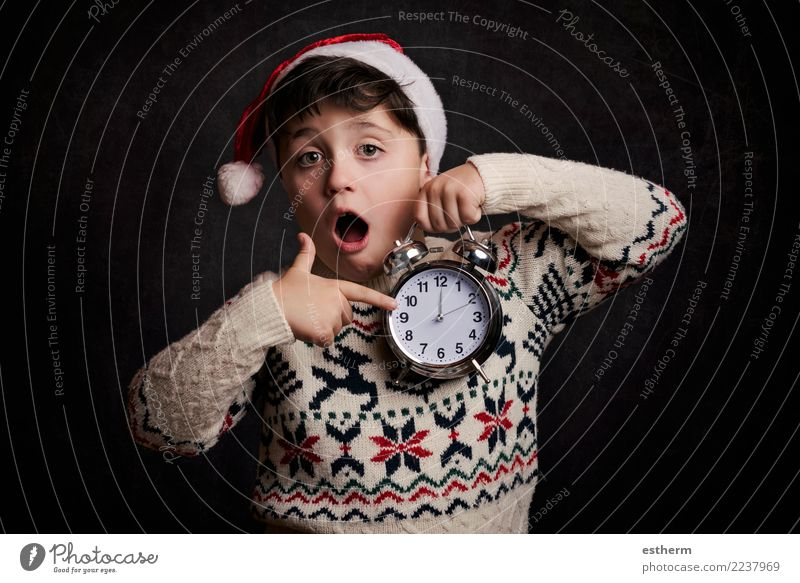 surprised child in New Year's Eve Child Human being Christmas & Advent Joy Lifestyle Funny Emotions Movement Happy Feasts & Celebrations Party Masculine Infancy