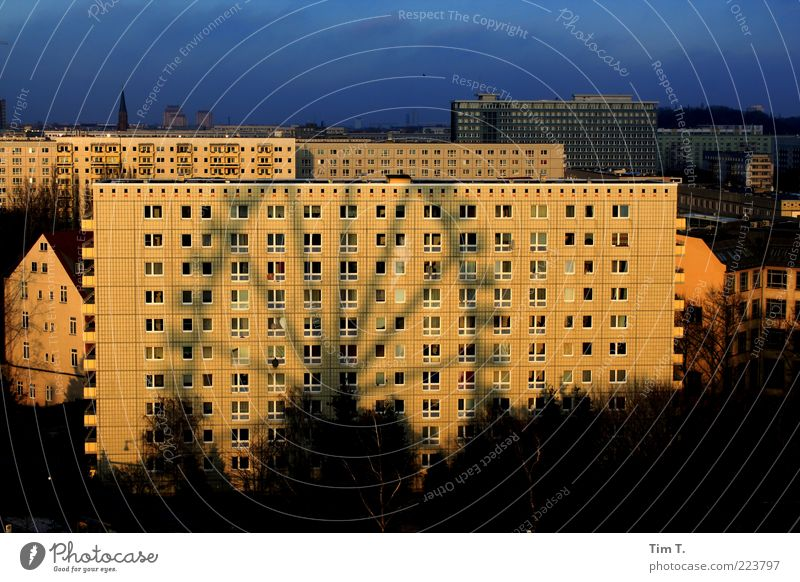 Market in Berlin Germany Capital city Downtown House (Residential Structure) High-rise Manmade structures Building Architecture Facade Window Loneliness