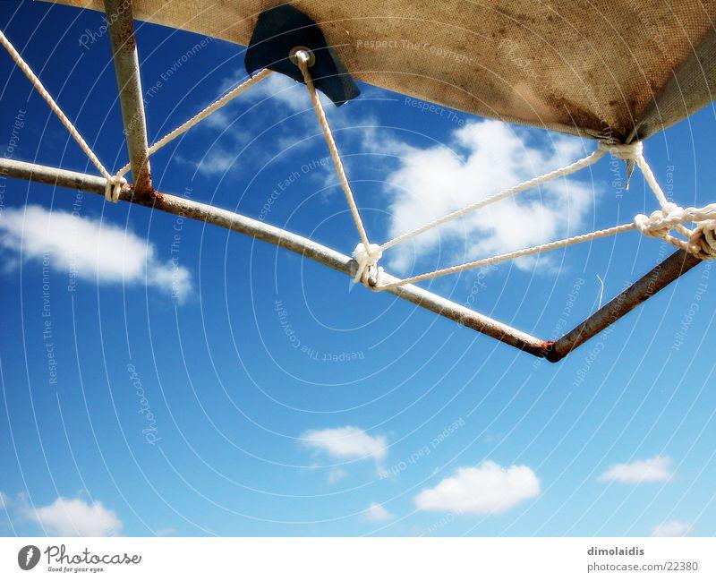Sky Sun Blue Clouds Graffiti String Turquoise Sail Sun sail Sun deck