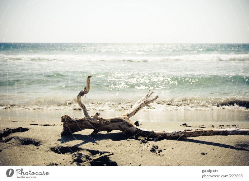 dream beach Vacation & Travel Summer Summer vacation Beach Ocean Waves Bright Wanderlust Horizon Uniqueness Nature Perspective Crete Freedom Loneliness Coast