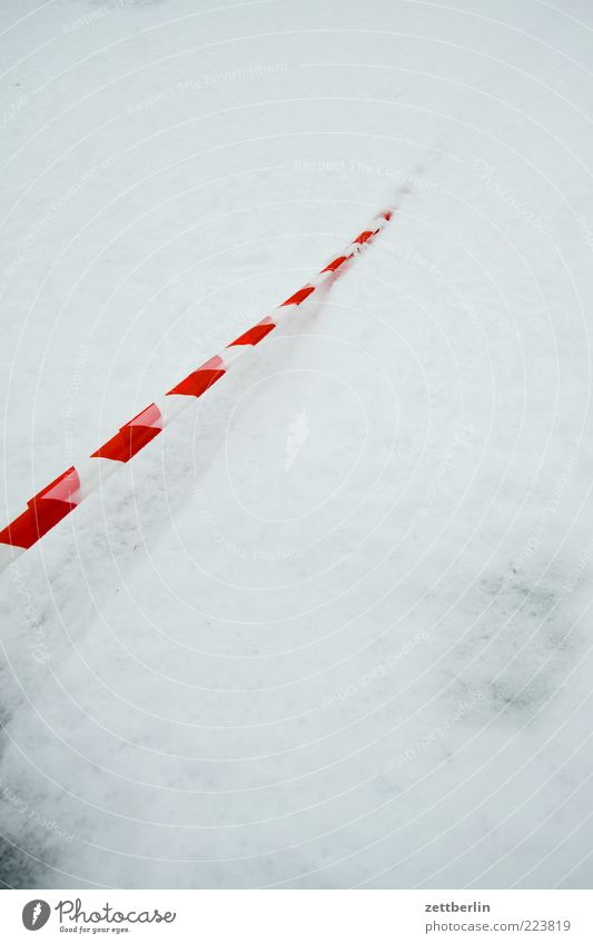Nature White Red Winter Street Snow Environment Lanes & trails Stripe Elements String Sign Barrier Bans Go under Covered