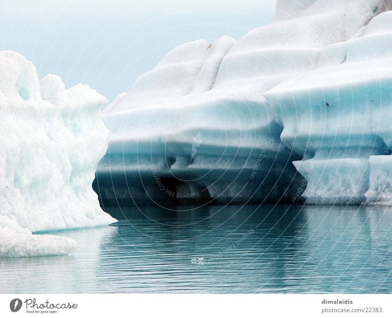 titanic Cold Azure blue Ocean Reflection The Arctic Iceland Greenland Winter Blue Water North Pole polar Snow
